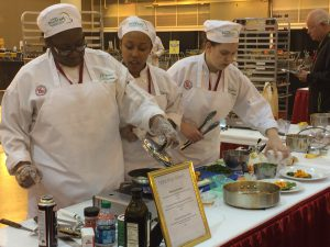 Pro Start students cooking for competition