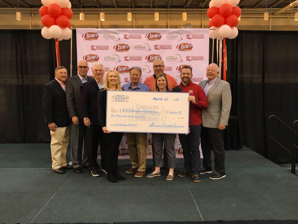 Check Presentation to Louisiana Restaurant Association Education Foundation