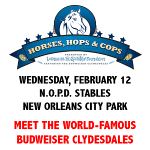 Horses, Hops and Cops logo